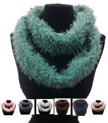 Warm Winter Infinity Loop Scarf Soft Fashion Faux Fur Fuzzy Solid Stylish NEW