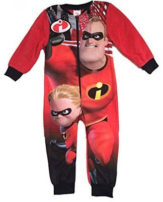 Official Incredibles All in One Character Boys Disney Childrens Pyjamas 3 5 6 8