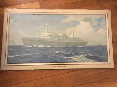 SS Rotterdam Holland America Line Advertising Canvas Painting