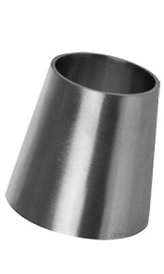 Concentric Reducing Cone Stainless Steel 316 Pipe Exhaust Mandrel Dull Polish