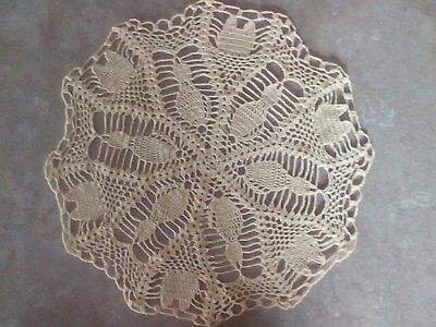 "Yellow Kitty Cat Crochet Doily 14 "" Wide Home Decor Crafts Spring"