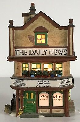 DEPT 56 THE DAILY NEWS CHRISTMAS DICKENS' VILLAGE 58513 Building Only AS IS