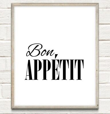 #118 Typography Print A4 Quote Gift kitchen Shabby Wall art Decor Whisks afraid