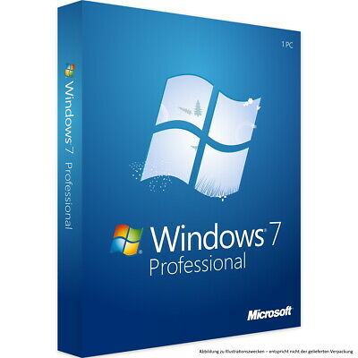 Microsoft Windows 7 Professional 32 / 64bit SP1 deutsch Vollversion Download 1PC
