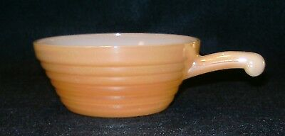 Vintage FIRE KING Peach Luster SOUP BOWL (1) Beehive~ Handled Oven Ware