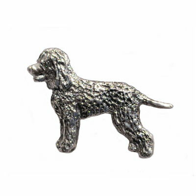 Irish Water Spaniel Pendant Necklace Handcrafted Dog Jewelry by Elizabeth Trail