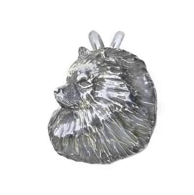 Keeshond Head Sterling Pendant Handcrafted Dog Jewelry Gift