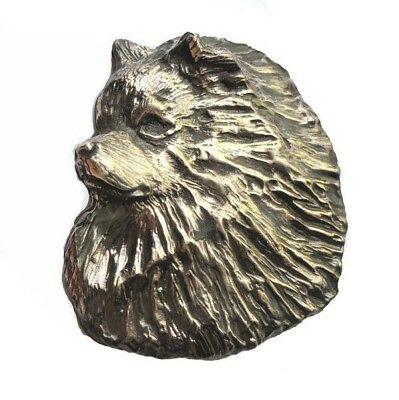 Handcrafted Keeshond Bronze Brooch Pin Dog Jewelry Keeshond Lover Gift