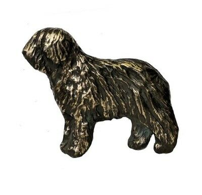 Handcrafted Bronze Old English Sheepdog Pendant Necklace