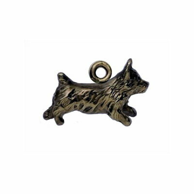 Handcrafted Bronze Norwich Terrier Charm Dog Jewelry