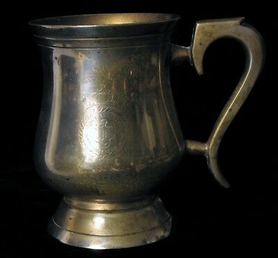 Antique China Fleet Club Royal Navy Hong Kong Silver Plated Anchor Etched Cup !