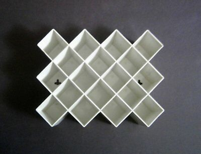 White Copco Honeycomb Spice Rack Mid Century Modern Wall Mount