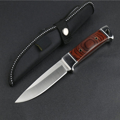 Fixed Stainless Steel Blade Browning Hunting Wood Handle Knife 58HRC Shadow