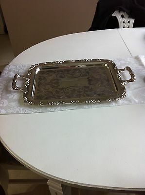 Old English Reproductions Silver Plated Serving Square Tray