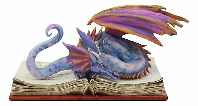 Amy Brown Book Wyrm Dragon 6.25 Inch Long Figurine Collectible Fantasy