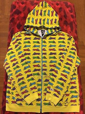 6ddf6bd04aa8 100% Authentic BBC Ice Cream Hoodie Size XL Bape Bathing Ape Yellow Running  Dog!