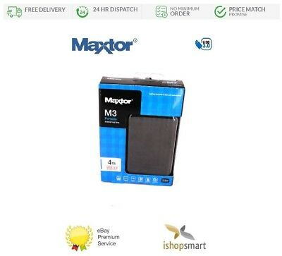Maxtor M3 4TB USB 3.0 Portable External Hard Drive 4000GB HDD Fast