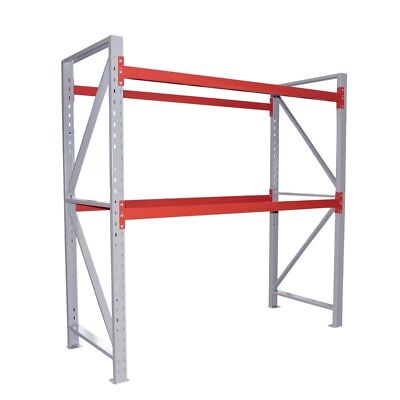 "Toolots 96''W × 40''D × 96""H Steel Pallet Rack 2 Shelf 4400 lbs without Decking"