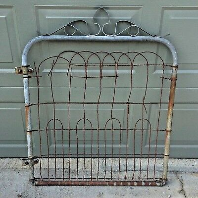 Architectural Salvage Metal Braided Wire Antique Garden Fence Gate VTG Trellis