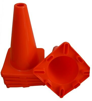 """6 Pack 12"""" Orange Road Safety Cones Traffic Cone Sports Construction Parking"""