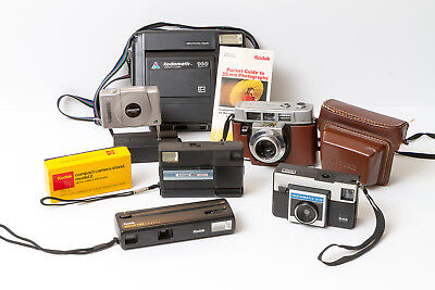 Lot of vintage Kodak cameras and accessories