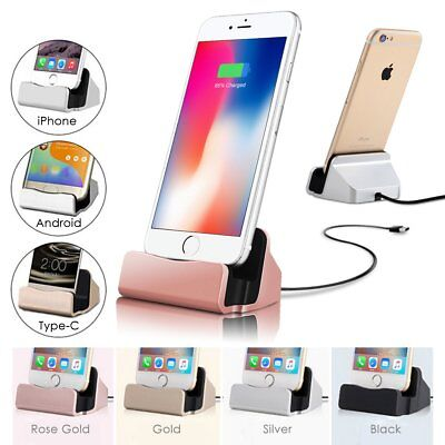 Micro USB Desktop Charger Stand Dock Station Sync Charge Cradle For Smart Phone