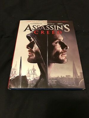 Assassins Creed (Blu-ray/DVD, 2017, 2-Disc Set W/ Slipcover) Like New Condition