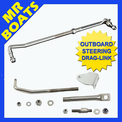 OUTBOARD STEERING DRAG LINK BOAT KIT Fully Stainless Steel Adjustable FREE POST