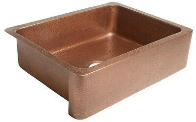 SINKOLOGY Courbet Farmhouse Apron Front Handmade Pure Solid Copper 30 in. Bowl