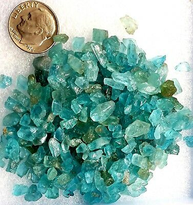 SALE PRICED 100+carats Lot Natural Neon Blue Green Rough Crystals Madagascar
