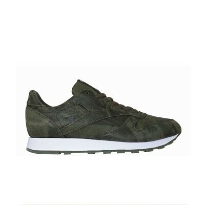 40fcb464c58 REEBOK CLASSIC LEATHER Cte (ARMY GREEN WHITE) Men s Shoes BS5258 ...