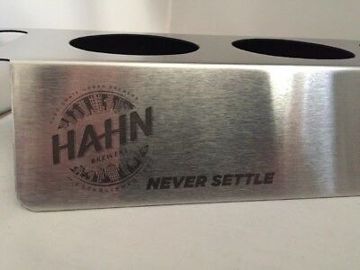 HAHN Brewers Bar Glass Holder Tray Rack Man Cave New