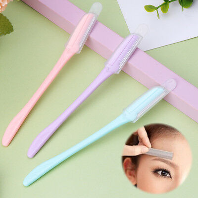3Pcs Women Face & Eyebrow Hair Removal Razor Trimmer Shaper Shaver Safety Set