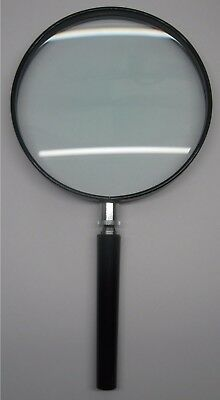 #1486 Handlupe Lupe 2X Ø 130 mm. Glas-Linse / hand held magnifier glass lens....
