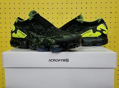 BRAND NEW Men's Nike Air Vapormax PK Moc 2 Acronym Sz 9.5 Black Volt AQ0996 007