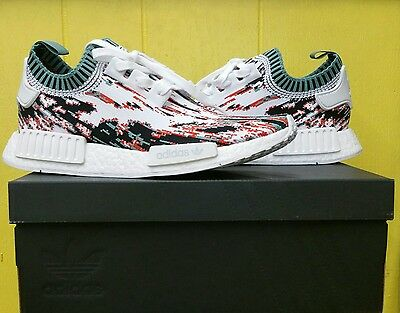 5673b547d NEW Men s Adidas NMD R1 Primeknit Datamosh SneakersnStuff BB6365 Orange Sz  9.5