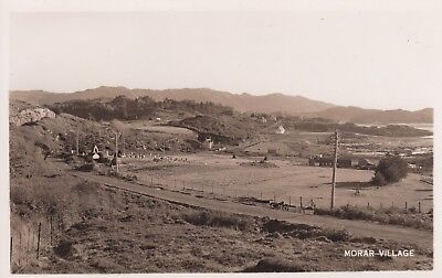 Morar Village - Lovely Real Photo, Old Motorcycle
