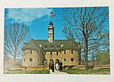 Vintage Postcard 1952 The Capitol at Williamsburg Virginia  Henry Cary Builder