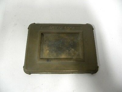 Vintage Crane Co. 1855 T0 1925 Bronze Promotional Ashtray Desk Paperweight (A5)