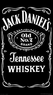 A5 Jack Daniel's Tennessee Whiskey Airbrush Stencil Template Step by Step Paint