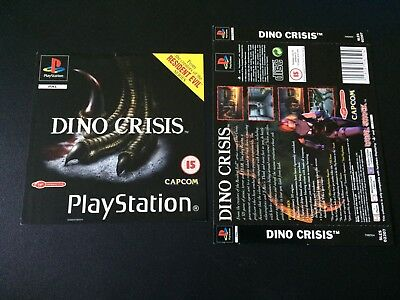 Dino Crisis Inserts Front & Back - Sony PlayStation PS1 - Free Postage