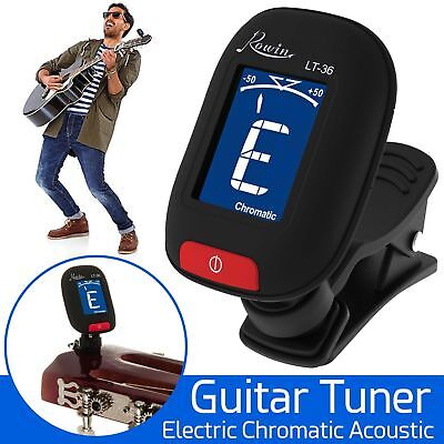 Lcd Electric Guitar Tuner Clip On Chromatic Acoustic Electric Bass Ukulele Banjo