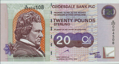Schottland / Clydesdale Bank 20 Pounds 1999 Pick 229 (1)