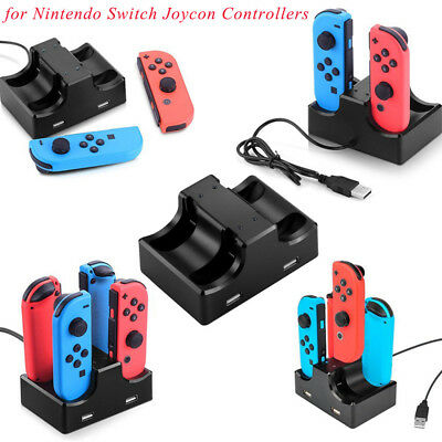New Joy-Con Charging Station Stand 4 in 1 For Nintendo Switch Joycon Controllers