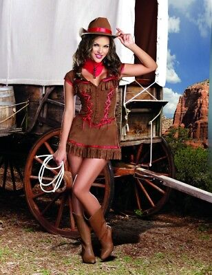 Leg Avenue Country Girl Farmer 4 Pc Costume Sm Nip Small Medium