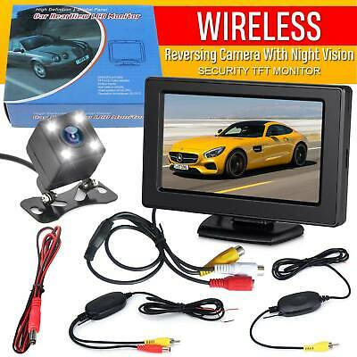 "4.3"" Wireless Car Reversing Camera  Rear View LCD Monitor +HD IR Night Vision"