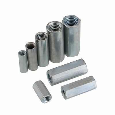 Hex Round Nuts Metric Rod Coupling Nuts Steel Connector Nuts M6 M8 M10 M12