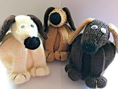 Hand Knitted Doggy Dog Tea Cosy In 5 Colours For Medium to Large Pot (2 Pint)