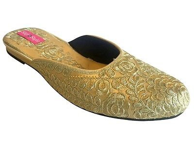 d9920eb57d5ae0 UK Punjabi Jutti Indian Khussa Shoes Women Designer Salwar Kameez Shoes  DD538