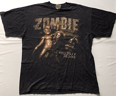 abf1542a63eb3 ROB ZOMBIE Vintage T-Shirt CONCERT 1998 Hellbilly Deluxe Sz 2XL Tour Cities